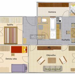 Ponúkame na predaj čiastočne zrekonštruovaný, 3-izbový byt v osobnom vlastníctve v mesta Šaľa na Okružnej ulici. Byt o rozlohe 73m² sa nachádza na ...
