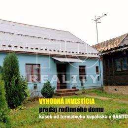 TU reality ponúka na predaj rodinný dom v známom kúpeľnom stredisku v obci Santovka. Dom je lokalizovaný v priamom centre tejto známej, turistami ...