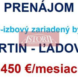 Ponúkame Vám na dlhodobý prenájom 4-izb. byt (80 m2 bauring) v Martine na Ľadovni. Orientácia SV/JZ. Byt sa nachádza na 8. poschodí v bytovke s ...