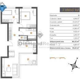 Pripravujeme na predaj 3-izbový byt v bytovom komplexe Floriánska Royal na najvyššom 5. poschodí. Byt má úžitkovú výmeru 63,75 m2 + terasa o veľkosti ...