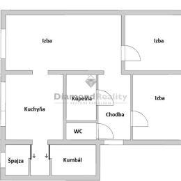 Ponúkame na predaj 3 izbový byt nachádzajúci sa na sídlisku Lúky vo Vrábľoch. Byt sa nachádza na ideálnom 2. poschodí z troch. Dispozičné riešenie: ...