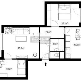 Ponúkame na predaj 3 izbový byt blízko centra, ul. 17.novembra, Sabinov.Byt na 5.poschodí disponuje plochou 65m².Kuchyňa : nová kuch.linkaJadro : ...