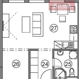 Ponúkame Vám na dlhodobý prenájom 1-izbový byt v novostavbe v Martine na Podháji. Nachádza sa na 1. poschodí. Bude kompletne zariadený. K bytu patrí ...