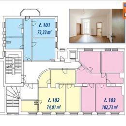 TUreality pripravuje do ponuky predaj 3-izbového bytu o výmere 74m2. Byt je vo fáze dokončovacích prác a nachádza sa na prvom poschodí z piatich v ...
