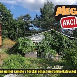 TU reality ponúka na predaj rekreačnú chalupu s pozemkami o celkovej rozlohe 12 árov v katastri obce Bátovce, ktorá sa nachádza na úplnej samote v ...