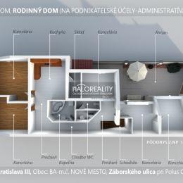 Ponúkame na prenájom rodinný dom pre administratívne účely v širšom centre Bratislavy, Nové Mesto pri Polus City Center. Situované v samostatnom ...