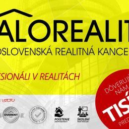 Ponúkame na predaj 1 izbový byt v osobnom vlastníctve v Prešove, na Sídlisku 2, ulica Marka Čulena. Nachádza sa na 3/3 poschodí, s podlahovou plochou ...