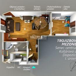 Ponúkame na predaj priestranný trojizbový mezonetový byt v centre okresného mesta Senec na Kollarovej ul. neďaleko pešej zóny. Nachádza sa na 3/3 ...