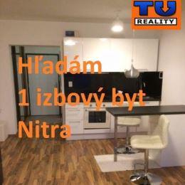 TUreality hľadá: pre našich klientov, súrne hľadáme 1 izbové byty na kúpu v Nitre. V pôvodnom stave aj zrekonštruované. Cena: závisí od konkrétnej ...