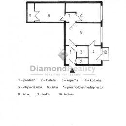 REZERVOVANÉ: Na predaj 3-izbový byt na ulici Hlinkova